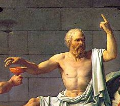 Jacques-Louis David, Morte di Socrate (particolare)