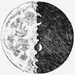 Incisione dal Sidereus Nuncius (tratto da Galileo's Moon Drawings)